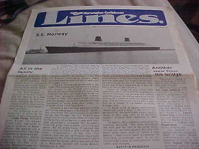 Norwegian Caribbean Lines - Newsletter for coming SS NORWAY - October 1979 Vol.1