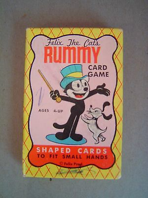 Vintage 1950's Felix The Cat Rummy Card Game Built-Rite Complete W/Box Nice!