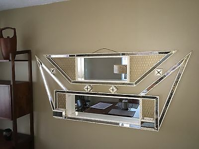 Mid Century Modern Atomic Shadow Box 60's Mirrored Large