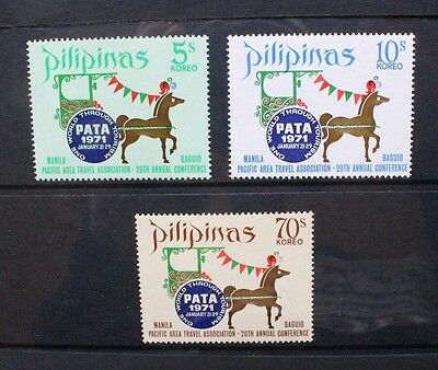 PHILIPPINES 1971 PATA Conference Horse. Set of 3. Mint Never Hinged. SG1183/1185