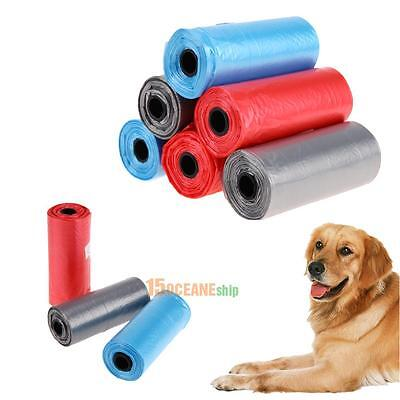 6pcs Portable Dog Pet Waste Poop Poo Refill Core Pick Up Clean-Up Bags Outdoor