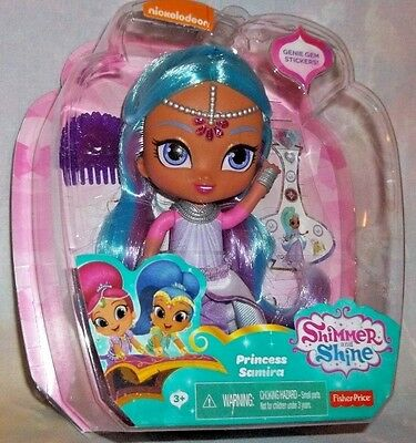 "Nickelodeon Shimmer and Shine 6"" *PRINCESS SAMIRA* Doll & Genie Gem Stickers 3+"