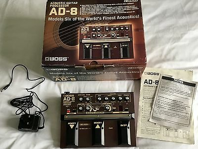 Boss AD-8 Acoustic Guitar Processor, EQ & Effects Pedal