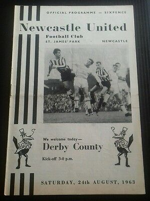 Newcastle United v Derby County Programme 24/10/63