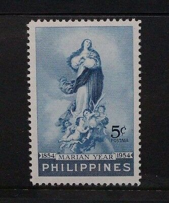 PHILIPPINES 1954 Marian Year. Set of 1. Mint Lightly Hinged. SG773.