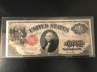 1917 $1 Large Size United States Note - VF - Rip
