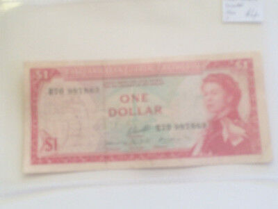 East Caribbean One 1 Dollar Banknote