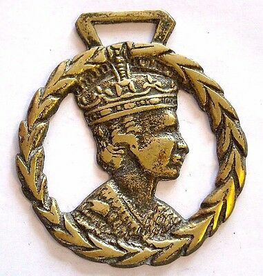 Vintage Horse Tack Harness Brass Bridle Ornament~Queen Elizabeth Ii