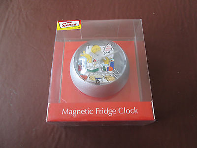 NEW boxed Magnetic fridge clock - The Simpsons