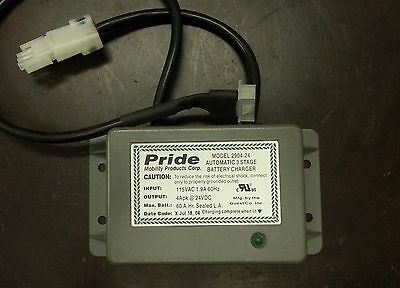 Pride Quantum Jazzy Jet 24VDC, 4A Onboard battery Charger 2904-24, 2904JT-24