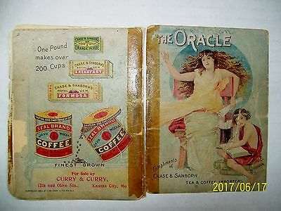Very Worn Old CHASE & SANBORN TEA & COFFEE 1897 Parlor Game ADVERTISING Giveaway