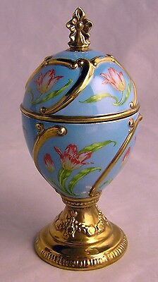 House of Faberge Tulip Musical Egg Tchiakovsky's Our Love Franklin Mint
