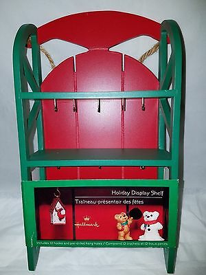 Hallmark Christmas Sled Ornament Display Shelf