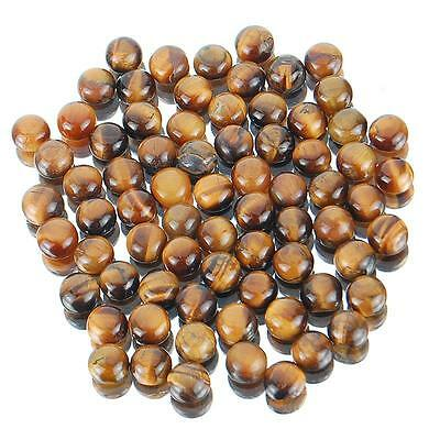 112 Cts/73 Pcs Untreated Natural Tiger Eye Wholesale Lot Gems 7mm Round Cabochon
