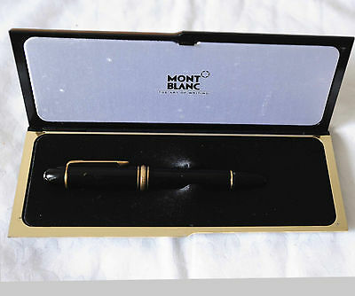 Montblanc GOLD Meisterstuck 18k No 149 Fountain Pen With Case