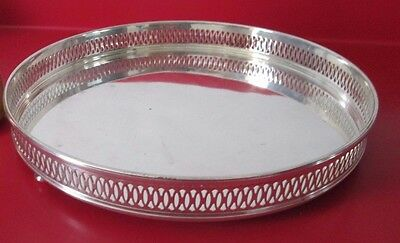 Antique  TUTTLE  - STERLING Silver COCKTAIL / DRINK TRAY 21.35 toz - No Monog