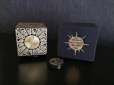 Hellraiser Puzzle Box Lament Configuration - Solid hardwood and Etched Brass set