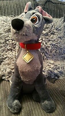 Disney Store Lady and the Tramp large TRAMP plush toy