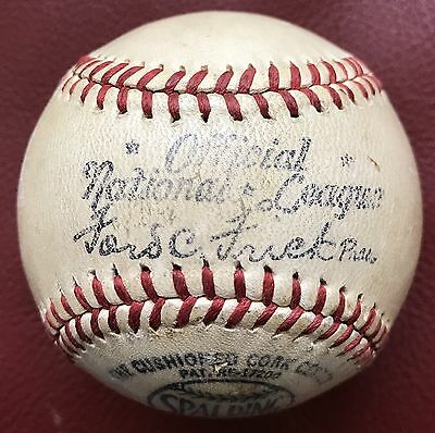 Vintage Spalding Official National League Frick Baseball Ball 1947-48 VERSION!!!