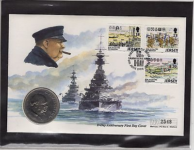 D-Day Anniversary Coin Cover 2548