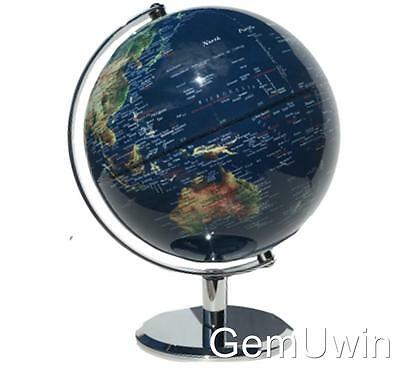 Spinning World Globe SatelliteView Educational Blue Home Decor Wedding Gift 30cm