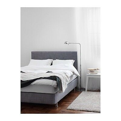 BNIP Ikea ARVIKSAND COVERS ONLY for bed frame 5' KING - Isunda Grey