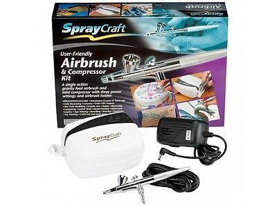 SprayCraft Airbrush & Compressor Kit SP30KC