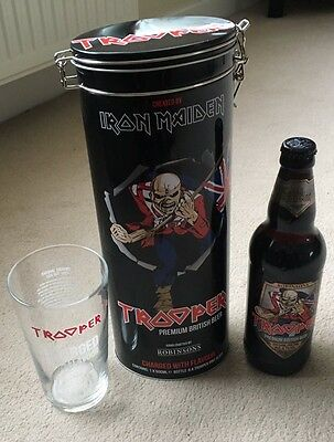 Iron Maiden Trooper Beer Tin Set Collectible Limited Edition 2017