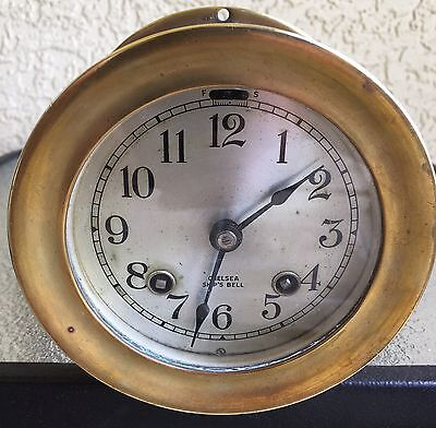 Vintage Chelsea 8 Day Ship's Bell Clock Ca. 1947