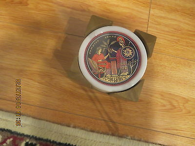 Collectable COASTER SET AND A HOLDER GREEK GODS