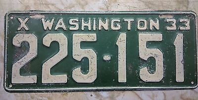 1933 Washington State License Plate