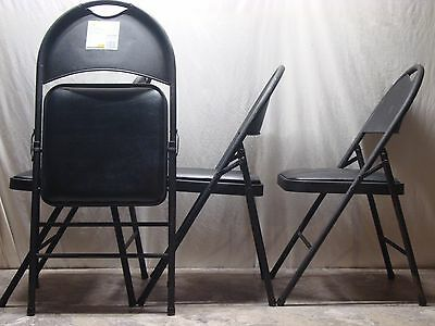 HDX Resin Folding Chairs with Steel Frame 4ct