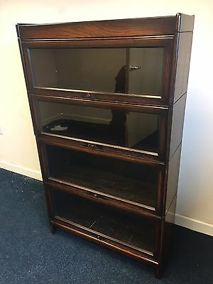 Antique Oak Globe Wernicke Stacking Bookcase In Very Good Condition