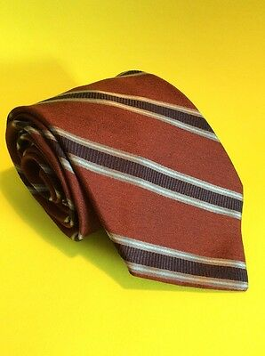 Men's 100% Silk Tie Valentino Made In Italy Burgundy Red Blues Long 62""
