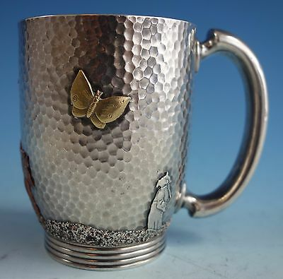 Mixed Metals by Gorham Sterling Silver Baby Cup #3210 Hammered (#1562)