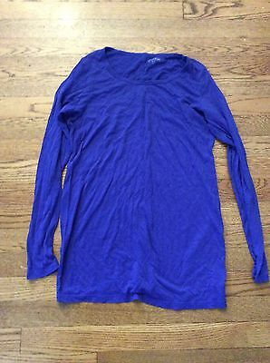A Pea In The Pod Maternity Long Sleeved T Shirt Royal Blue Small Cozy 💙🎀💙🎀💙