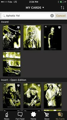 [Digital]The Walking Dead Card Trader Complete OE APHOTIC Set (3 Waves) w/Awards