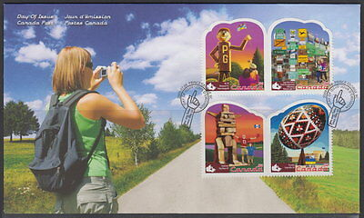 CANADA #2336a-2336d 54¢ ROADSIDE ATTRACTIONS FIRST DAY COVER