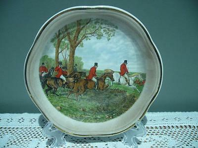 Vintage Palissy (Royal Worcester) England Hunting Pattern Small Plate - Vgc