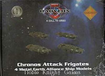 Mongoose Babylon 5 Call to Arms Earth Mini Chronos Frigate Pack MINT
