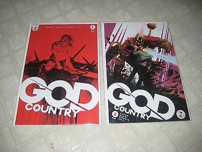 Lot of GOD COUNTRY 1 (2nd print) and 2 (1st print) Image