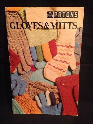 Patons Gloves & Mitts knitting Crochet pattern Book No. 406 DRAGONS PLAID CABLE