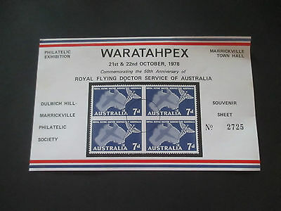 1-- 1978  --Waratahpex  Issued     Mini  Sheet  --Cto --  With   --Gum--A 1