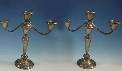 Villa Norfolk by Gorham Sterling Silver Candelabras Pair 3-Light #833 (#1580)