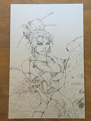 SHELBY ROBERTSON Rob Liefeld Extreme LATEX ALICE Original Art COVER Pin Up Girl