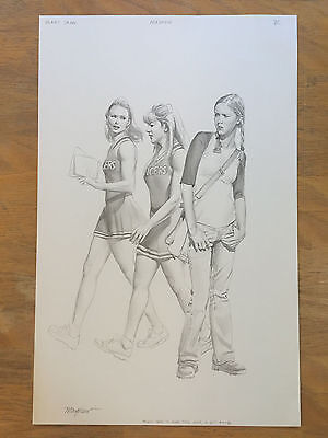 Spider-Man MARY JANE Novel MIKE MAYHEW Chapter Original Art CHEERLEADER GIRLS