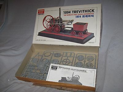 X730 RARE 1/38 scale ACADEMY 1804 TREVITHICK WORLDS 1ST STEAM LOCO, plastic kit