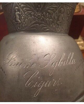 Antique Advertising Water Pitcher -American Silver Plate Co -early 1900 - Cigars