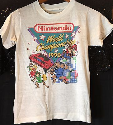 Authentic Vintage Nintendo World Championships 1990 Child's Size 8/10
