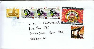 Png Cover  - Uprated Provisionals  On Cover To Australia